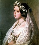Queen Victoria in her Wedding Dress by Franz Winterhalter, 1840
