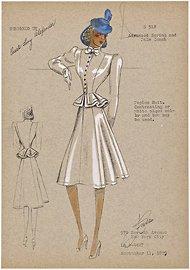 Peplum suit, 1939