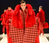 Emerging designer's showstopper ChinHauTay's BeWear Bear collection. Image iD Dunedin Fashion Inc.