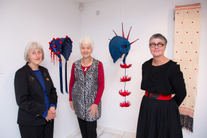 Christine Hellyar, Maureen Lander and Jo Torr have come together in this exhibition responding to items in the Turnbull Collections.  Photo: Mark Beatty
