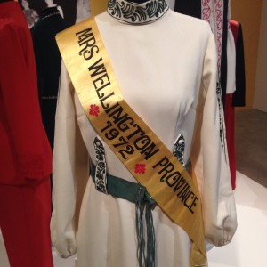 Erenora Puketapu-Hetet's Mrs Wellington Province gown. Designed by Erenora and made by Heather Maisley.