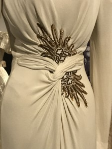 Edith Head Grecian Style Gown worn by Lizabeth Scott in I Walk Alone 1947 detail