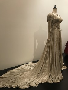 Edith Head Wedding dress worn by Barbara Stanwyck in Sorry Wrong Number train view