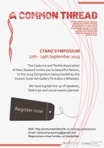 CTANZ A Common Thread Symposium 2019